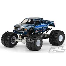 rc monster truck racing proline racing pro3247 00 2008 ford f250 clear body for solid axle
