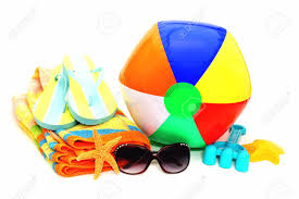 flip flop towel collection of items towel flip flops sunglasses