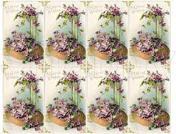 Shabby Chic Purple by Shabby Chic Purple Flowers Collage Sheets Shabbybeautiful