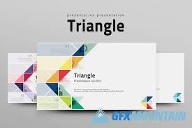 presentation templates gfx triangle powerpoint presentation