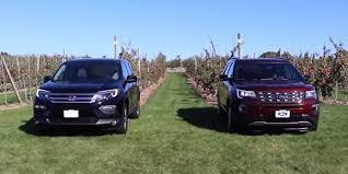 compare honda pilot and ford explorer honda compares the 2016 honda pilot and 2016 ford explorer