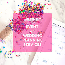 wedding planner salary agreement for event or wedding planning services event planner