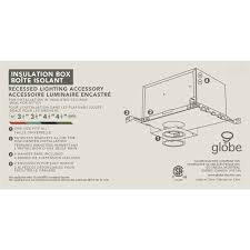 Installing Pot Lights In Insulated Ceiling Recessed Lighting Ic Insulation Box Aluminum Finish Globe