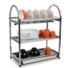 3 tier kitchen cabinet organizer alpha living 3 tier high quality stainless steel dish drainer