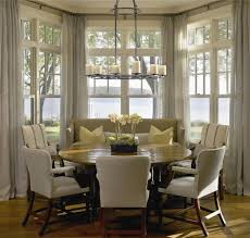 dining room curtains ideas merry sunroom dining and wraps kitchen bay window curtain