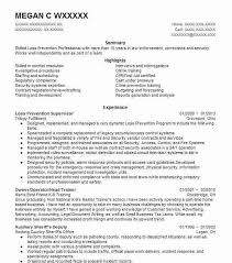 Law Enforcement Job Description Resume by Best Loss Prevention Supervisor Resume Example Livecareer