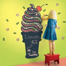 Chalk Board Wall Stickers Ice Cream Cone Chalkboard Wall Decal By Wallcandy Arts Kids Wall