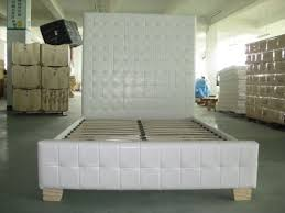 Bed Frames On Ebay White Leather Bed High Headboard Pertaining To Drawing Of