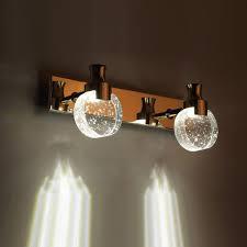 aliexpress com buy modern led bubble crystal bathroom wall lamp