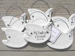 personalized baptism favors primitive dove ornaments set of 10 personalized baptism favors