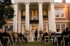 gorgeous backyard wedding ceremony at the historic mansion