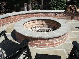 Firepit Brick Think Fall Backyard Fireplaces And Firepits Watsontown Brick