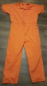 Prison Jumpsuit Prison Jail Inmate Jumpsuit Authentic Ebay