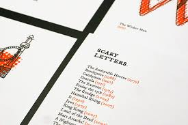 scary letters postcard sets brought to you by splinter design
