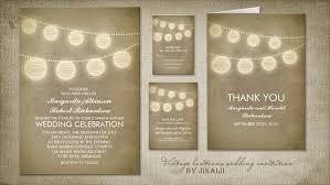 vintage wedding invites read more vintage lanterns and string lights wedding invitation