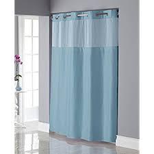 Aqua Blue Shower Curtains Amazon Com Hookless Rbh27my919 Square Tile Jacquard Shower