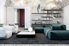 étagère derrière canapé canapé vert luminaire design et déco en agate bleue font battre
