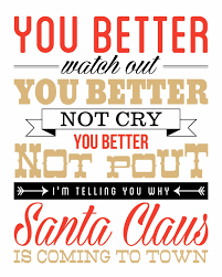 santa claus is coming to town new christmas print eighteen25