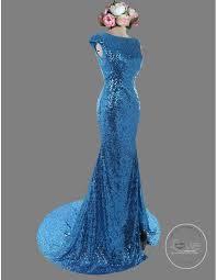blue sequin bridesmaid dress gorgeous capped blue sparkly sequins front slit bridesmaid dresses