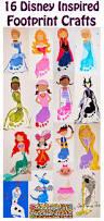 20 personnage inspirés de disney à peindre avec les pieds d u0027enfant