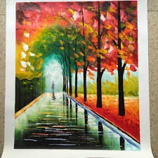 Painting For Living Room by Aliexpress Com Buy New 100 Hand Painted Landscape City Bench
