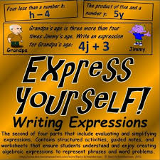 writing algebraic expressions for word problems and word phrases