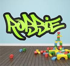 graffiti boys bedroom personalised graffiti name wall sticker mural art boys girls