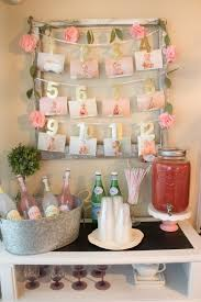 floral first birthday drink bar themed parties and display