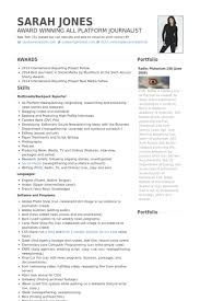Create Video Resume Online by Journalist Resume Samples Visualcv Resume Samples Database