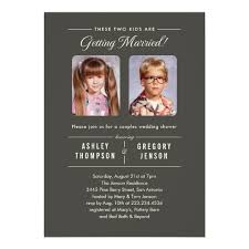 wedding invitations with pictures photos couples wedding shower invitations zazzle