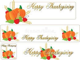 happy thanksgiving banner royalty free stock photos image 11677348