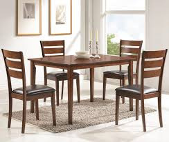 shasta brown 5 piece dining table set andrew u0027s furniture and