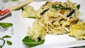 Toc De Cuisine - tallarines d arròs amb bolets i llet de coco al toc de llima