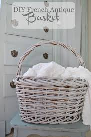 make a brown basket look like a french antique basket french