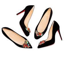 diva cora 100 black multi velvet women shoes christian
