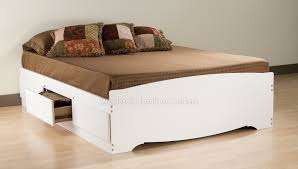 Storage Beds Queen Size With Drawers Bedroom Excellent Prepac White Queen Platform 6 Drawer Storage