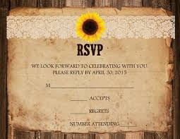 wedding invitations horseshoe or sunflower lace 10 invitations 10