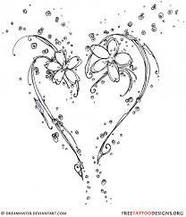 flowers tattoos design heart tattoos design
