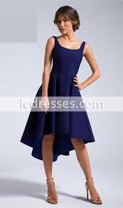 high low cocktail dresses royal blue elegant short party