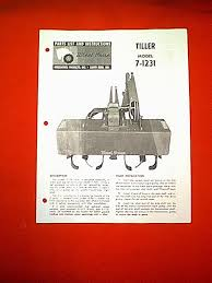 wheel horse tractor tiller attachment model 7 1231 owners with