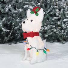 Lighted Dog Outdoor Christmas Decoration by Lighted Christmas Dog Ebay