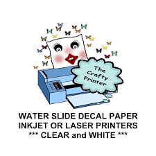 waterslide decal paper white u0026 clear for inkjet and laser