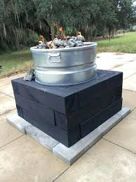 how to build a fire pit table diy fire pit how to build a gamesfreezcouk propane throughout design