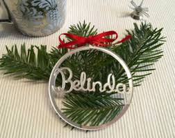Personalised Snow Globes Tree Decorations Personalised Christmas Bauble Etsy