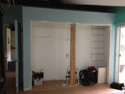 a closet framing remove closet center support beam home improvement