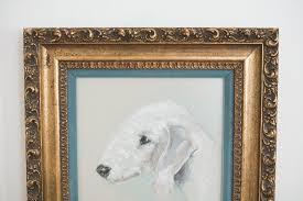 bedlington terrier seattle pastel dog portrait homestead seattle