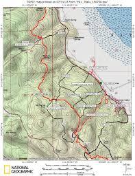 Buckeye Trail Map Arizona Hiking Mormon Lake Lodge Area Trails