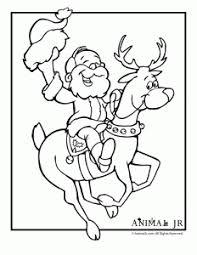 christmas printables cartoon reindeer coloring pages animal jr
