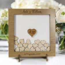 guestbook for wedding personalised wedding guestbook laser cut square wedding heart