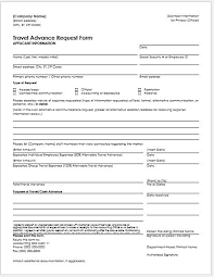 travel advance request form for ms word word u0026 excel